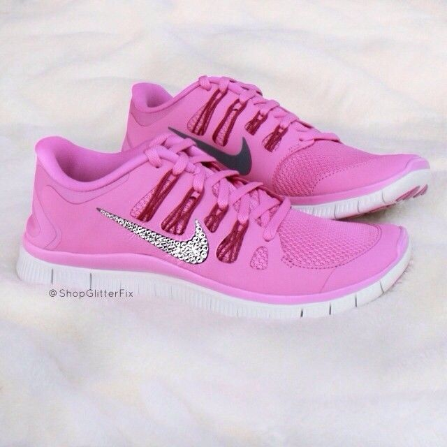 Pink Nike Free 50 Running Shoes silver Red