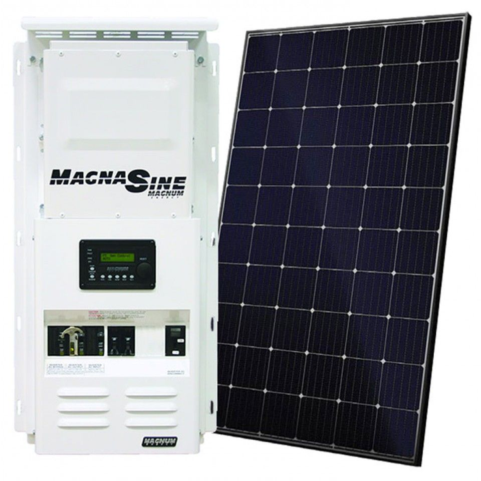 Off Grid Solar Power Kit With 3 960 Watts Of Panels And 4 400 Watt 48vdc 120 240vac Inverter Power Panel Solar Power Kits Solar Energy Panels Solar Panels