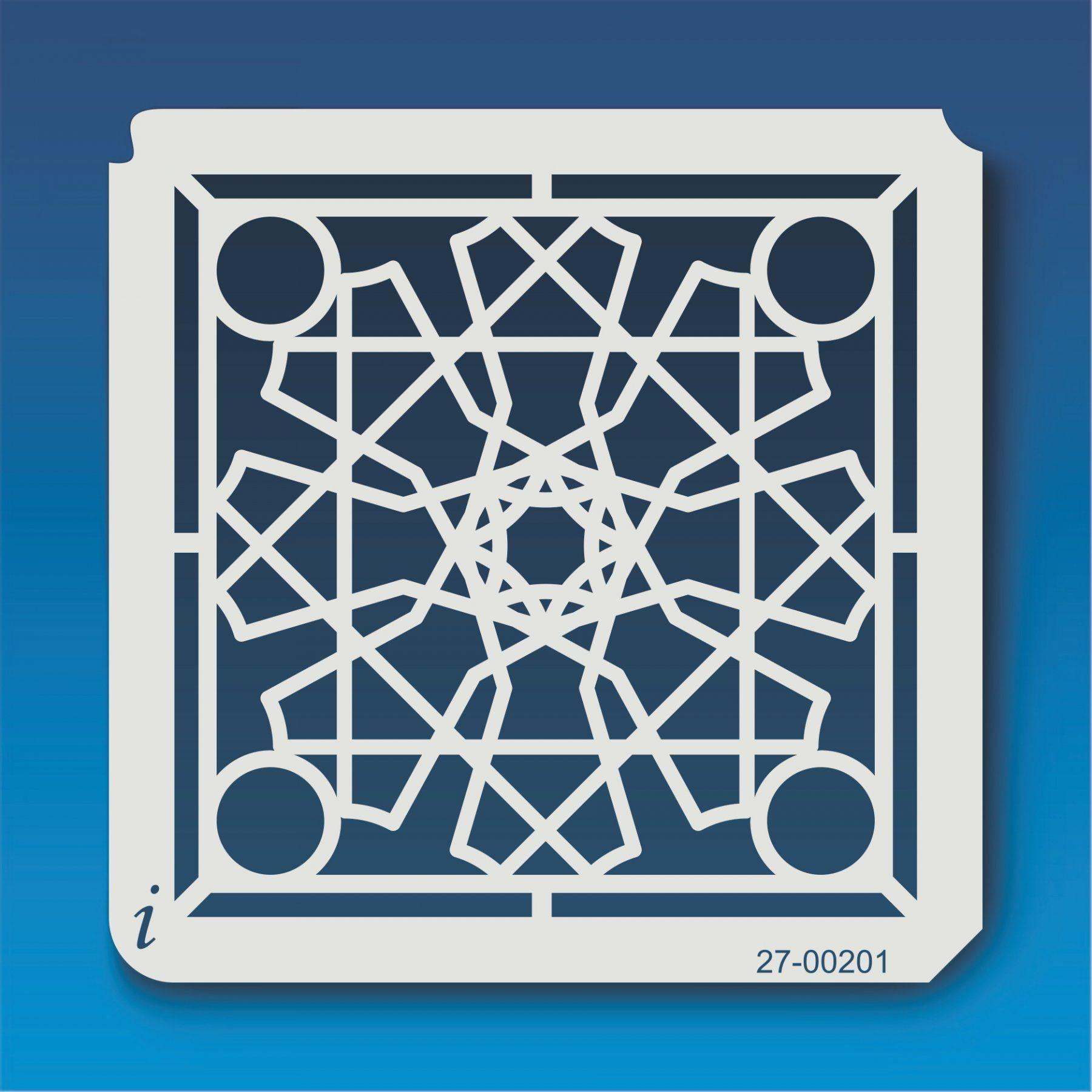 27 00201 Geometric Mandala 3 Stencil