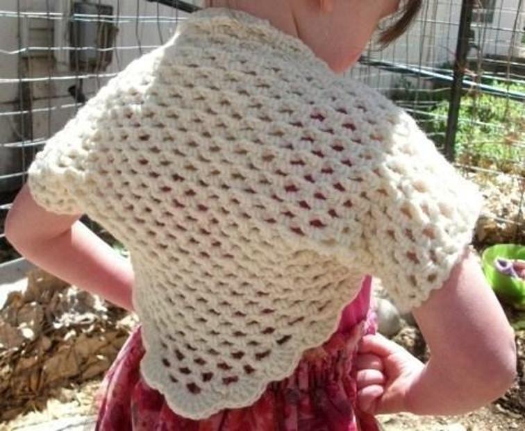 Girls Crochet Bolero Shrug PDF