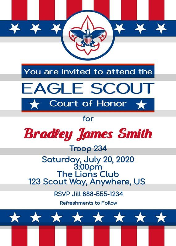Eagle Scout Court Of Honor Invitations Template Eagle Scout