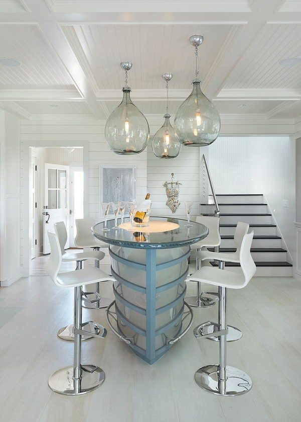The Chic Technique Glass Basement Ceiling Lighting