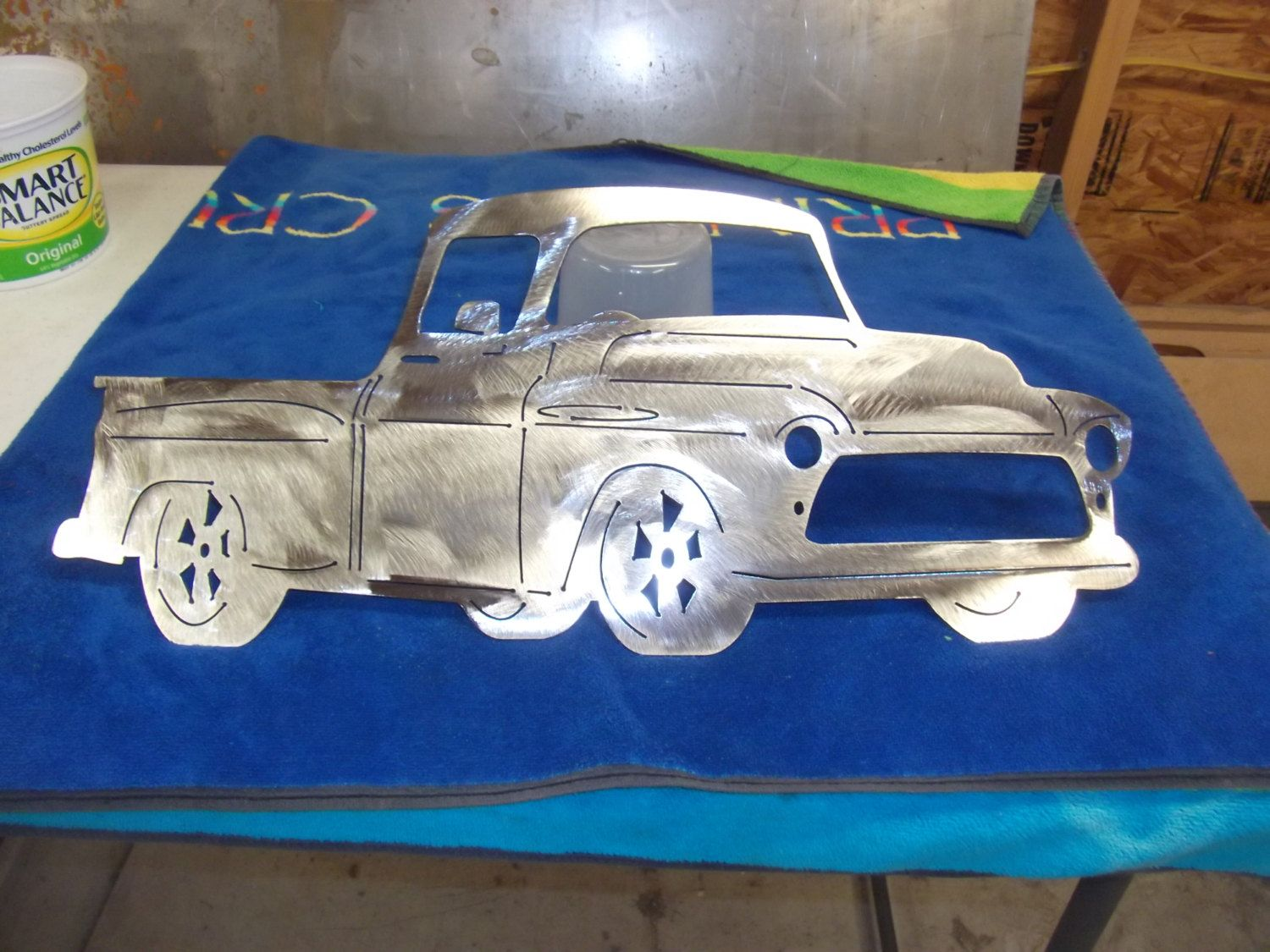 Charmant Plasma Cut 1956 Chevy Truck Metal Mancave Garage Wall Art Home Decor
