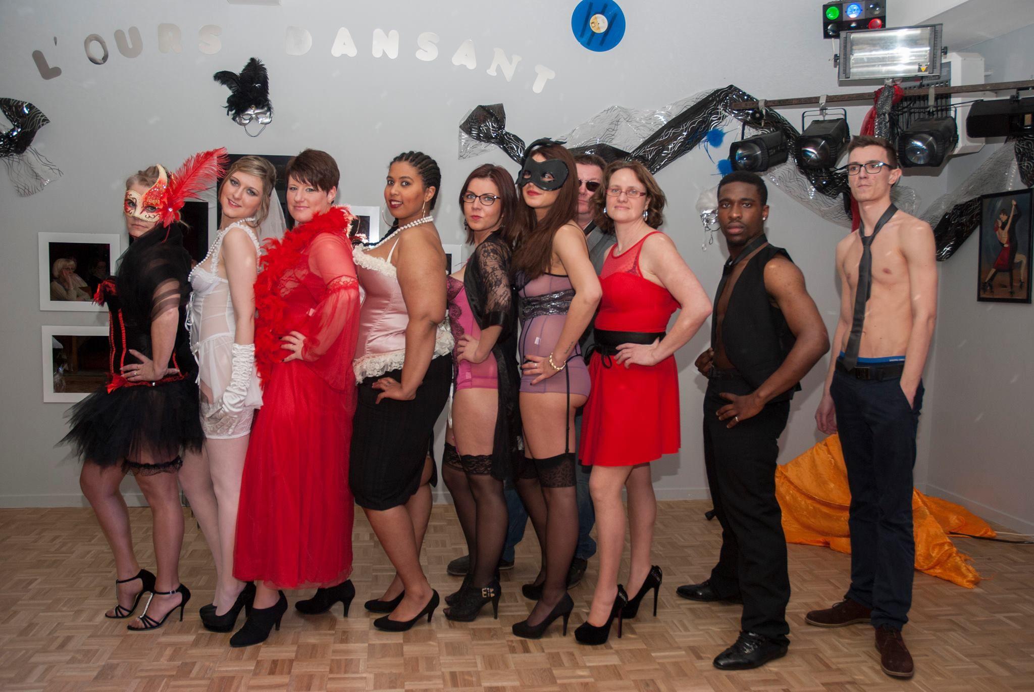 Défilé lingerie à L'Ours Dansant Mars 2015 Tenues : www.laboutiquedesophie.net