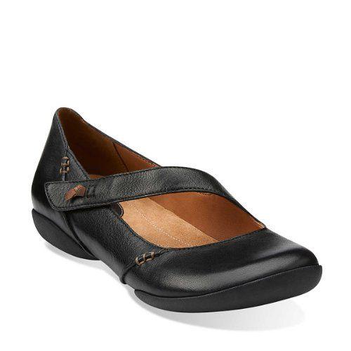 Black leather shoes women
