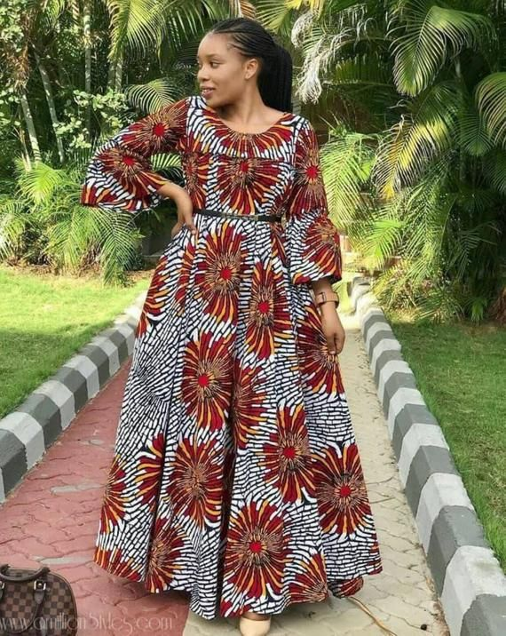 Robes de mode africaine, robe de mode africaine, vêtements africains pour les femmes, robe Ankara, mode Ankara, robe africaine, robe Maxi africaine, dashiki #africandressstyles