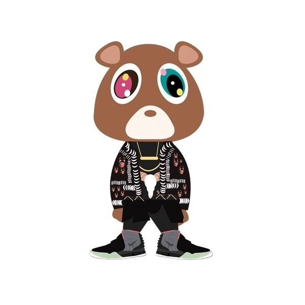 Kanye Dropout Bear Updated With Givenchy Nike Air Yeezy Kicks 2012 Liked On Polyvore Doodle Images Iphone Wallpaper Album Art
