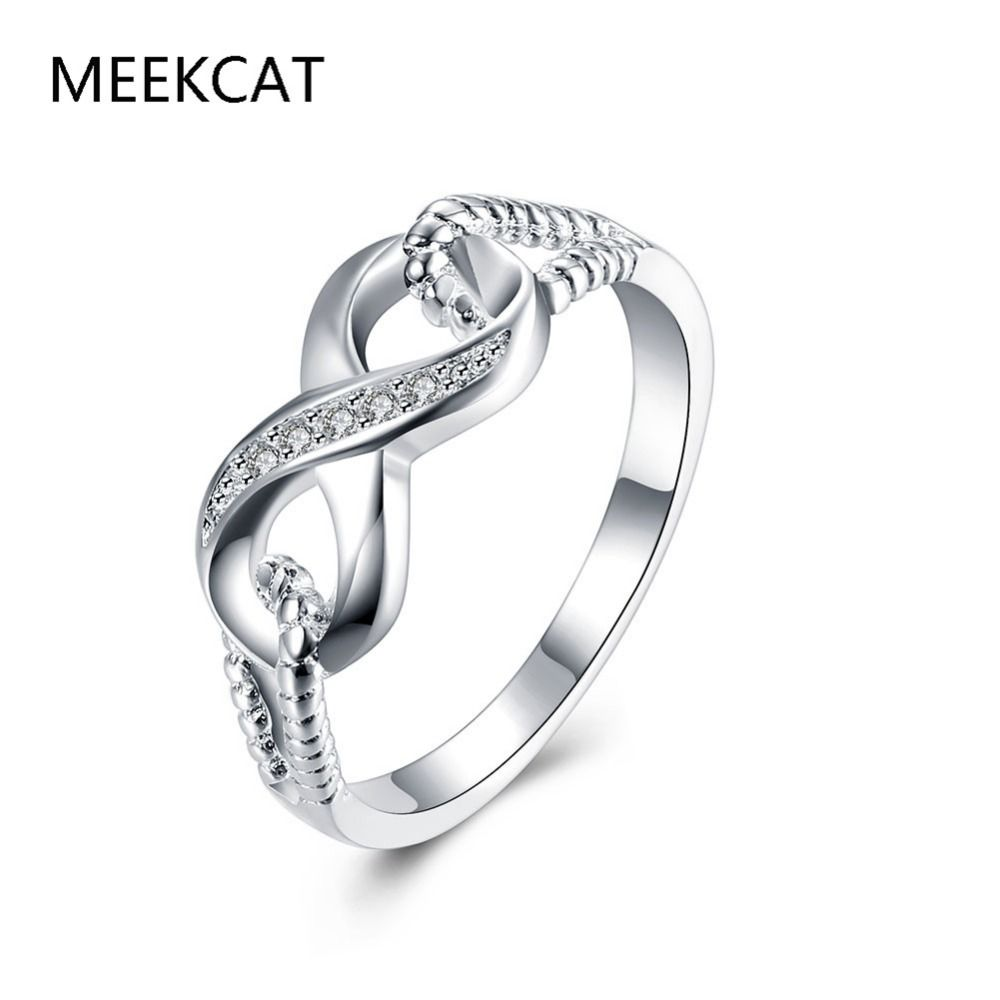Genuine 925 stamped silver plated jewelry designer brand rings for best friend gift high quality 925 stamped silver plated infinity ring endless love symbol wholesale fashion rings for women biocorpaavc Images