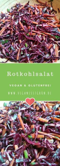 Photo of Red cabbage salad raw food and gluten free   Vegan recipes