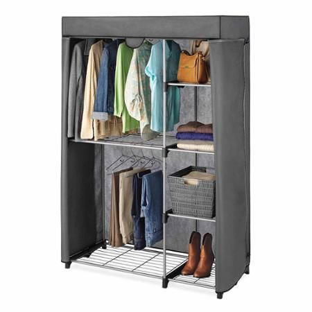 Exceptionnel Whitmor Double Rod Freestanding Closet Cover