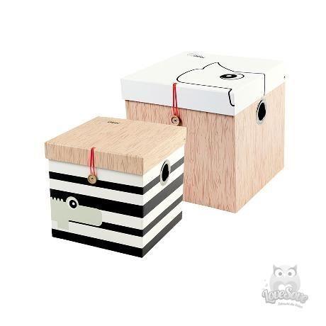 Big 2 Pudla Done By Deer Done By Deer Aufbewahrungsbox Vintage Holzkisten