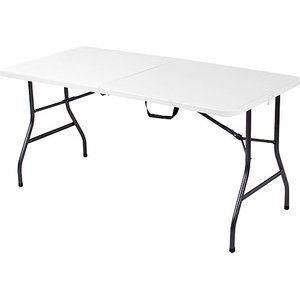 Mainstays 5 Foot Long Center Fold Table White 38
