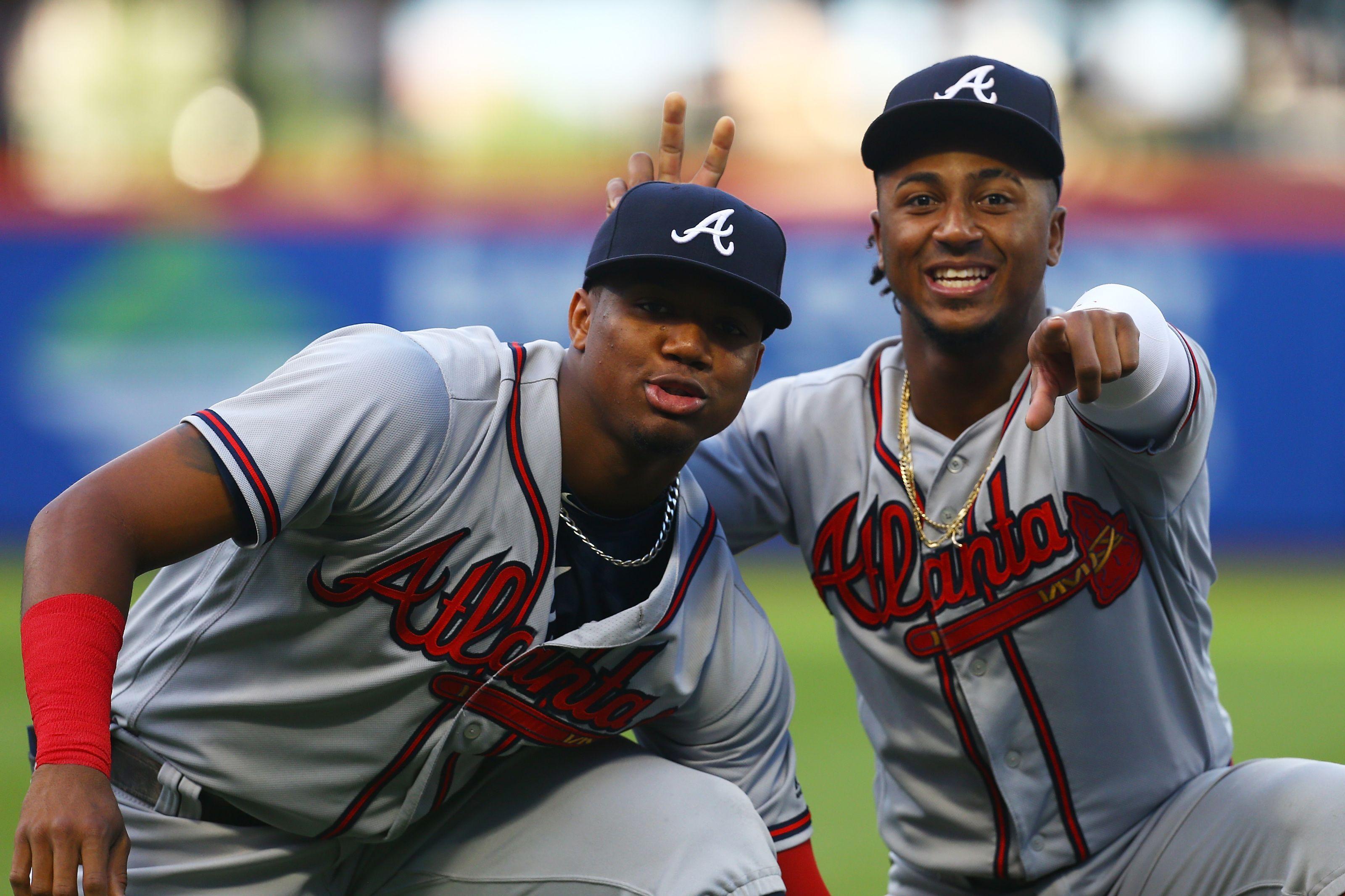 Acuna And Albies 2018 Atlanta Braves Atlanta Braves Baseball Braves