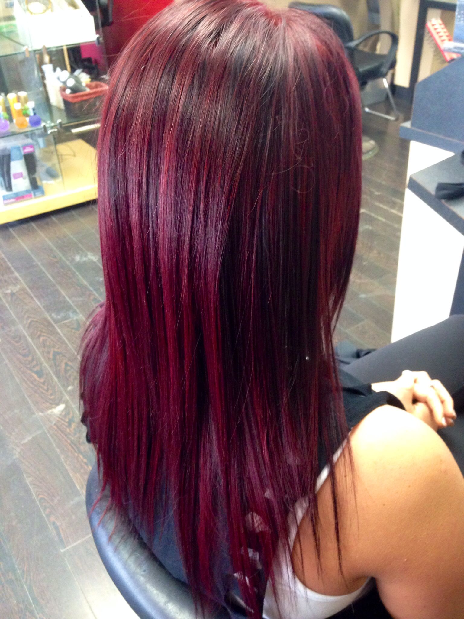 Vibrant red violet hair using Schwarzkopf colors | Hair ...