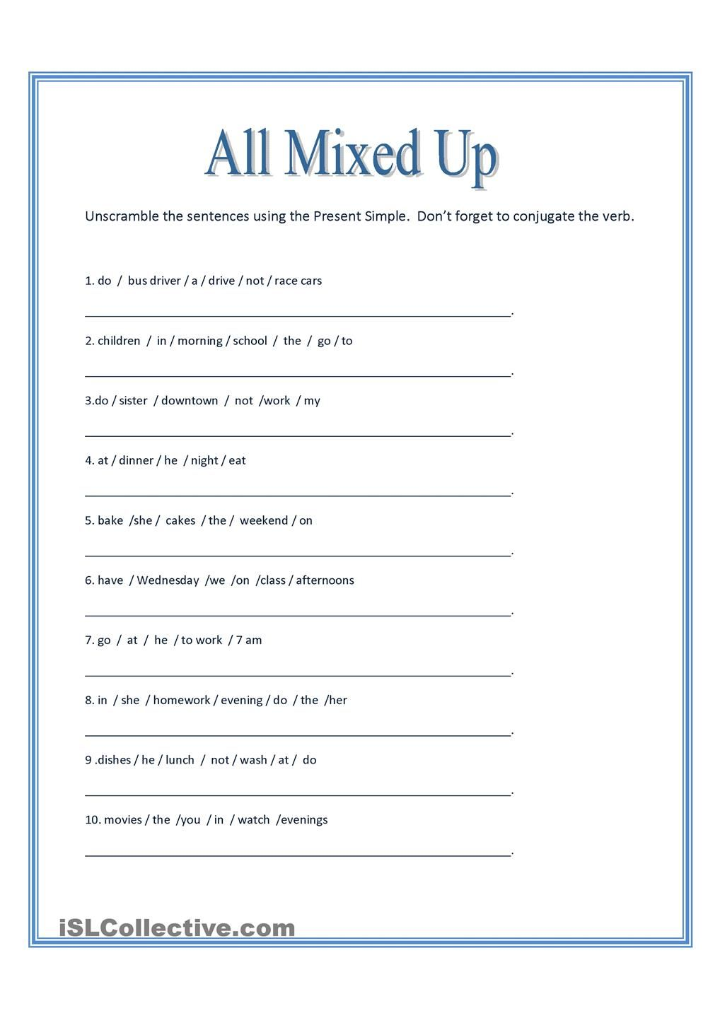 All Mixed Up ~ Sentence Scramble | Printable banner | Pinterest ...
