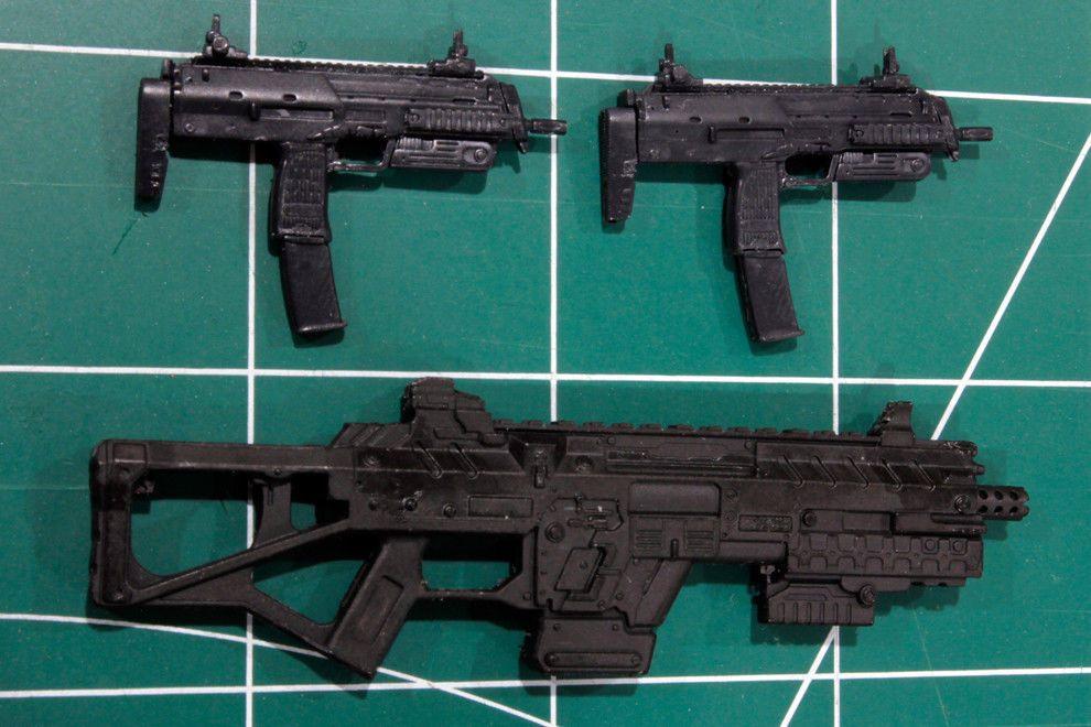 Custom Arsenal pack resin black cast 1:12 mp7