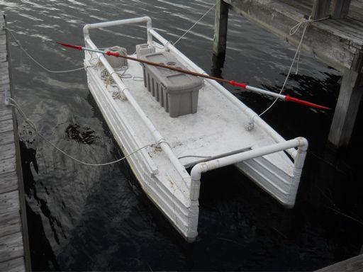 Homebuilt Pontoon Boat Double Hull Kayak Homemade Toys