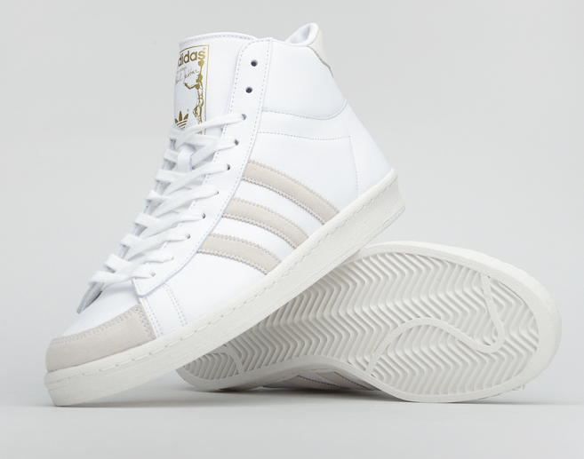 adidas Kareem Abdul Jabbar White Gold Detailed Pictures