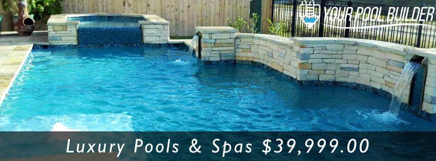 custom inground pool and spa builders in Conroe, TX