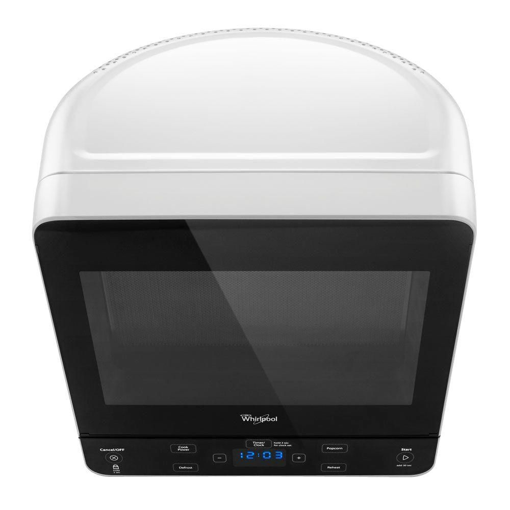 Whirlpool 0 5 Cu Ft Countertop Microwave In White Wmc20005yw The Home Depot Countertop Microwave Countertop Microwave Oven Sleek Microwave