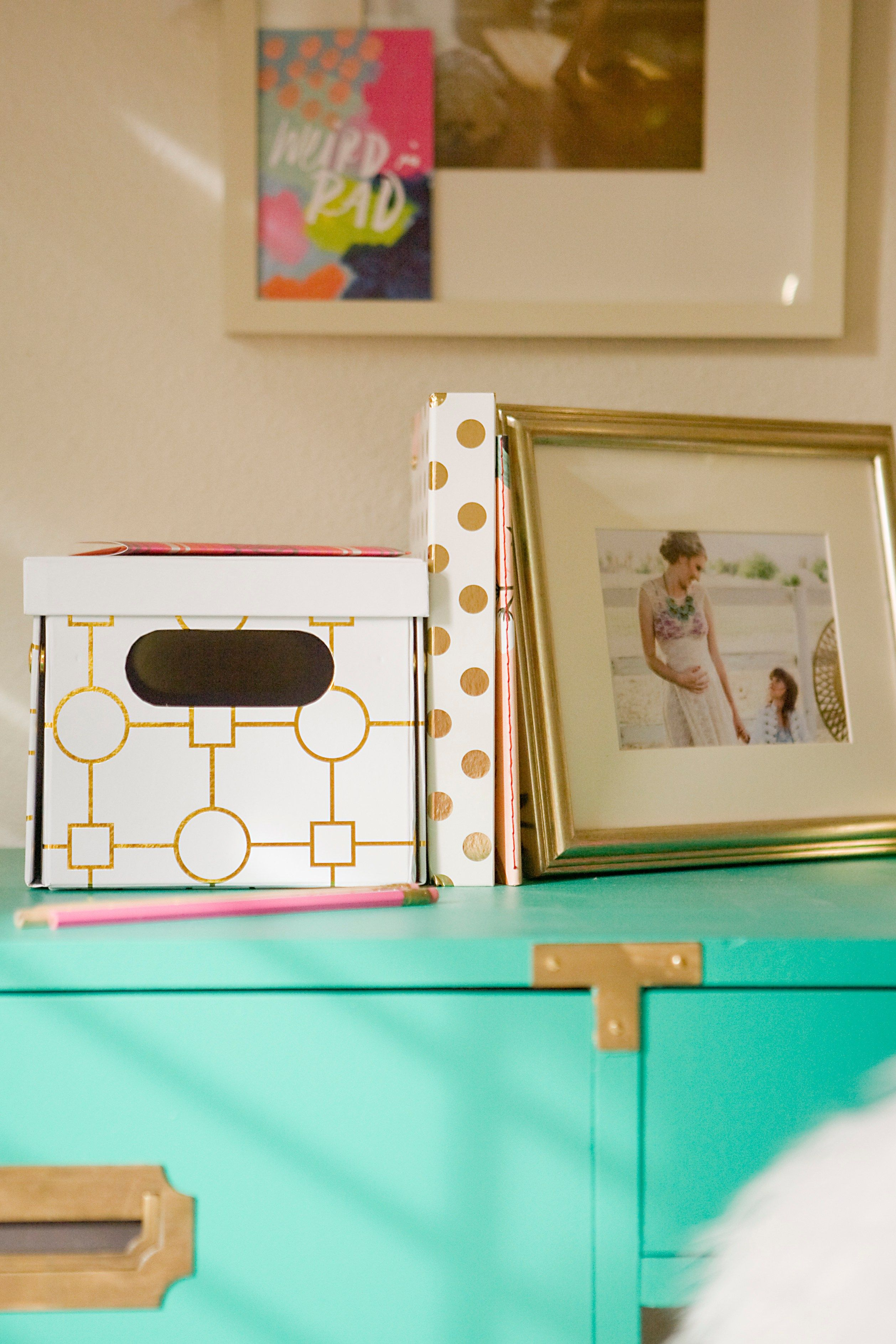 A Charming Desk Space with O My Darlings Blog Charming