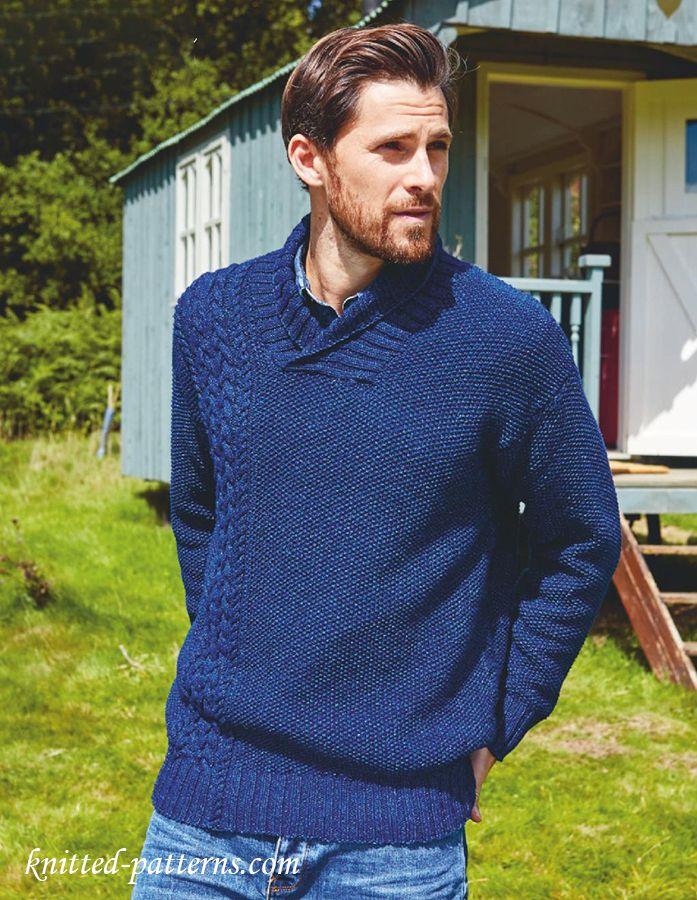 Free knitting pattern mens sweater   Free knitting patterns   Pinterest