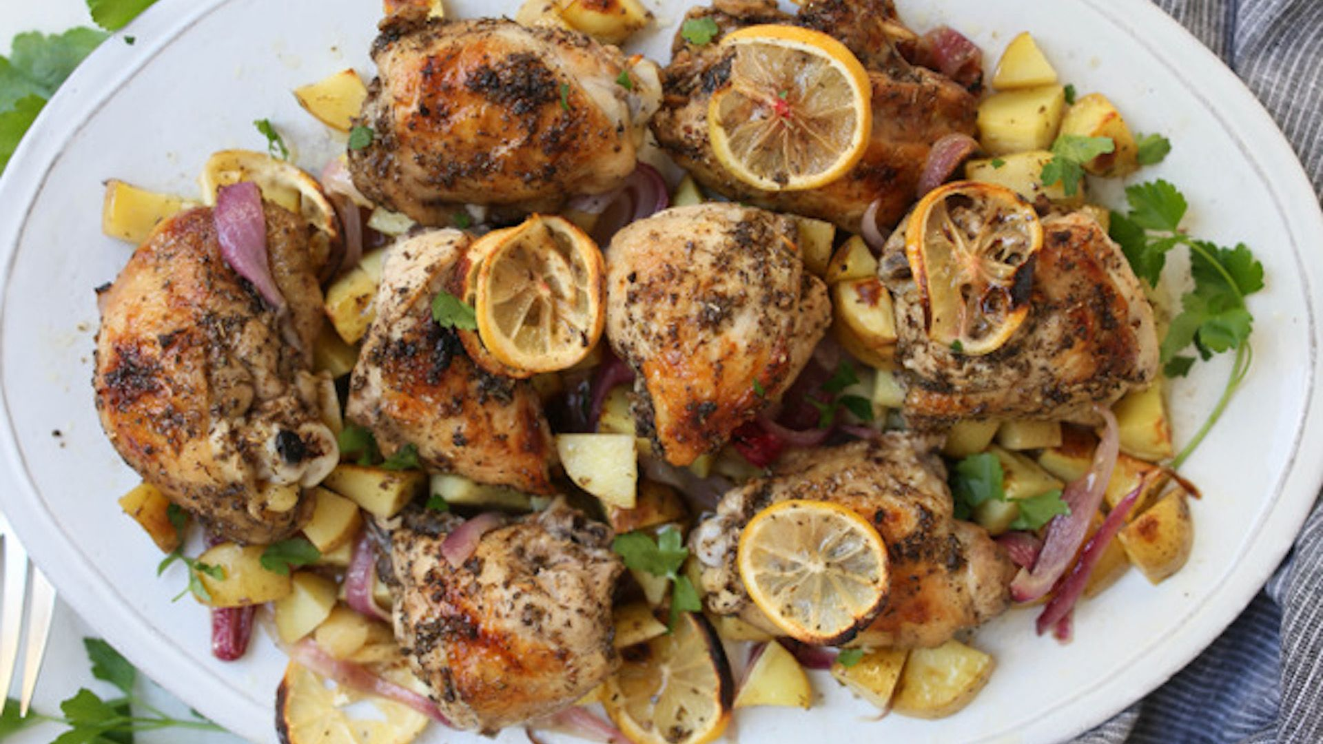 You Only Need One Pan To Make This Mediterranean Chicken Dinner Recipe Chicken Dinner Recipes Sheet Pan Meals Chicken