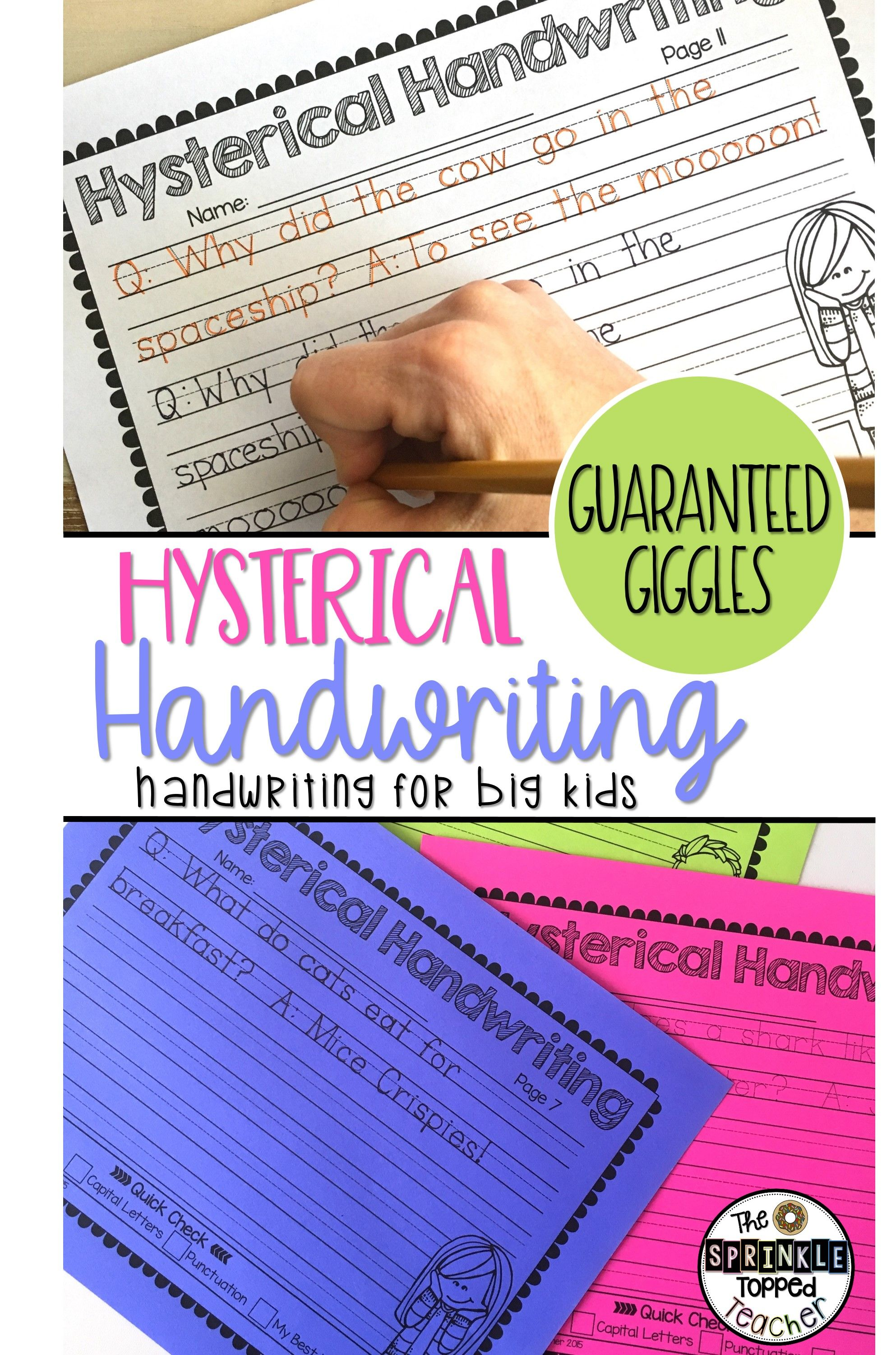 Hysterical Handwriting Worksheets 2 0 Jokes And Giggles With