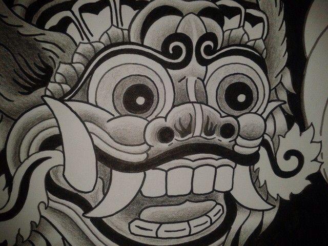 Barong Cartoon Drawing
