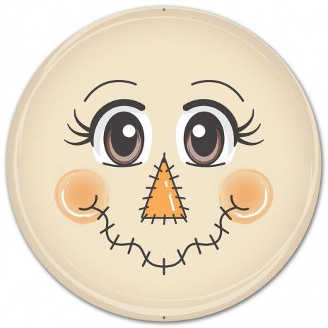 12 Metal Face Sign: Scarecrow #scarecrowwreath