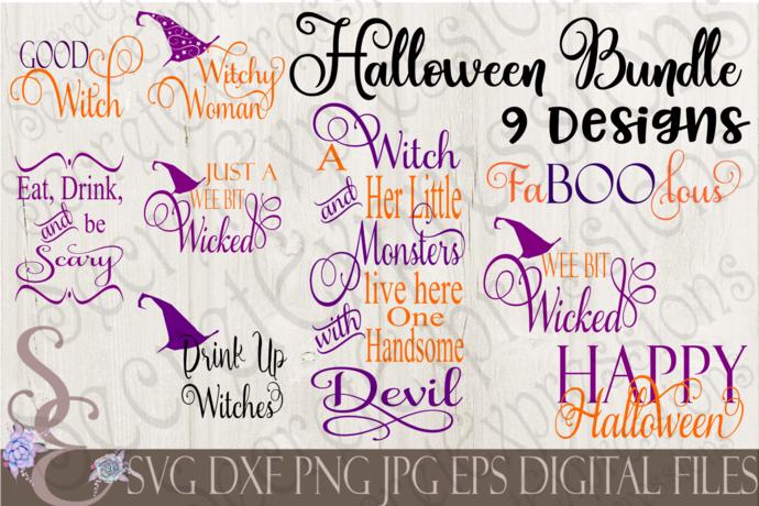 Halloween SVG Bundle, 9 Digital File, SVG, DXF, EPS, Png