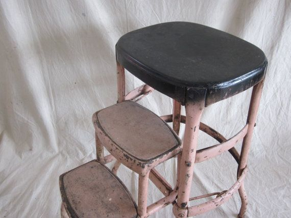 cosco step stools chairs | Vintage Cosco Metal Step Stool Ladder Pink Industrial Steel & cosco step stools chairs | Vintage Cosco Metal Step Stool Ladder ... islam-shia.org