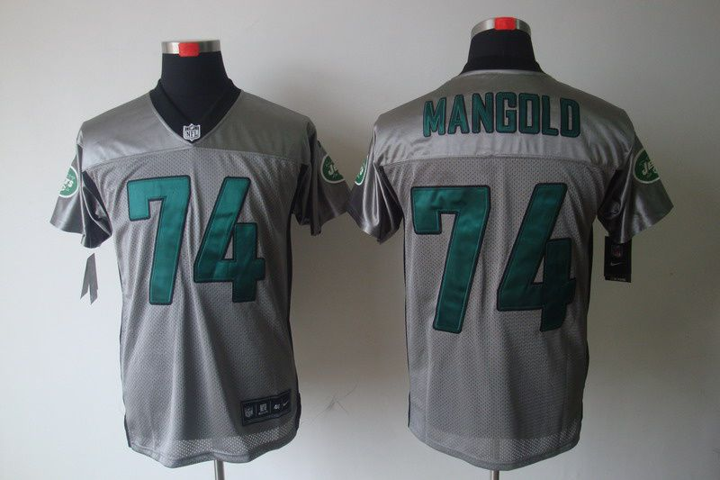los angeles a32bb 11792 New York Jets #74 Nick Mangold shadow Elite Nike NFL Jersey ...