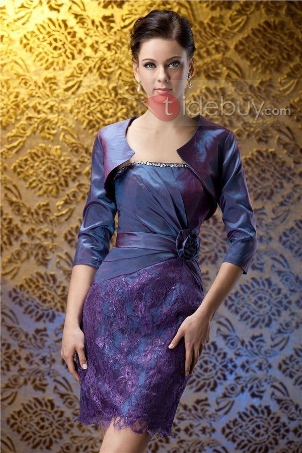 Traje elegantd   vestidos   Pinterest   Madre del novio, La rodilla ...