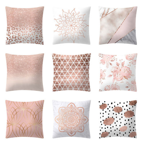 rose gold pillows case