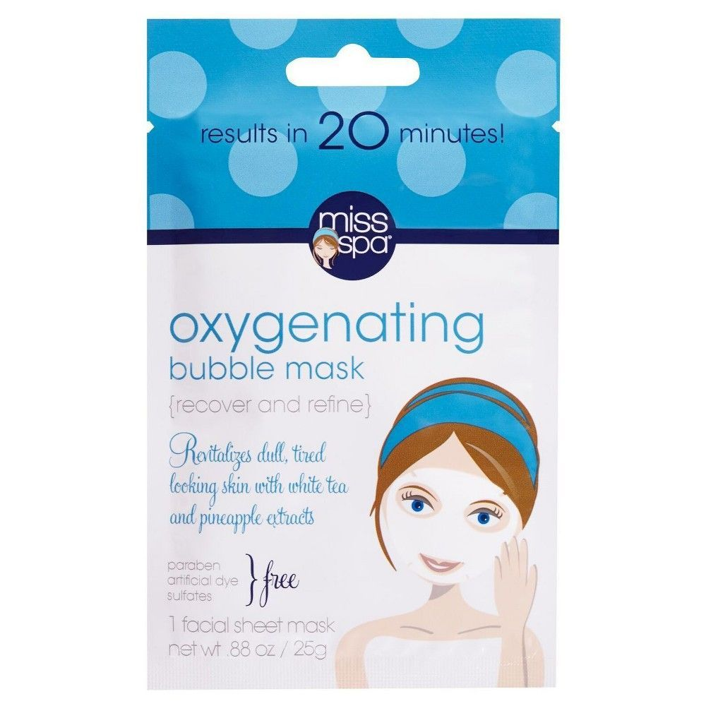 Miss Spa Recover And Refine Oxygenating Bubble Mask 0 88oz White