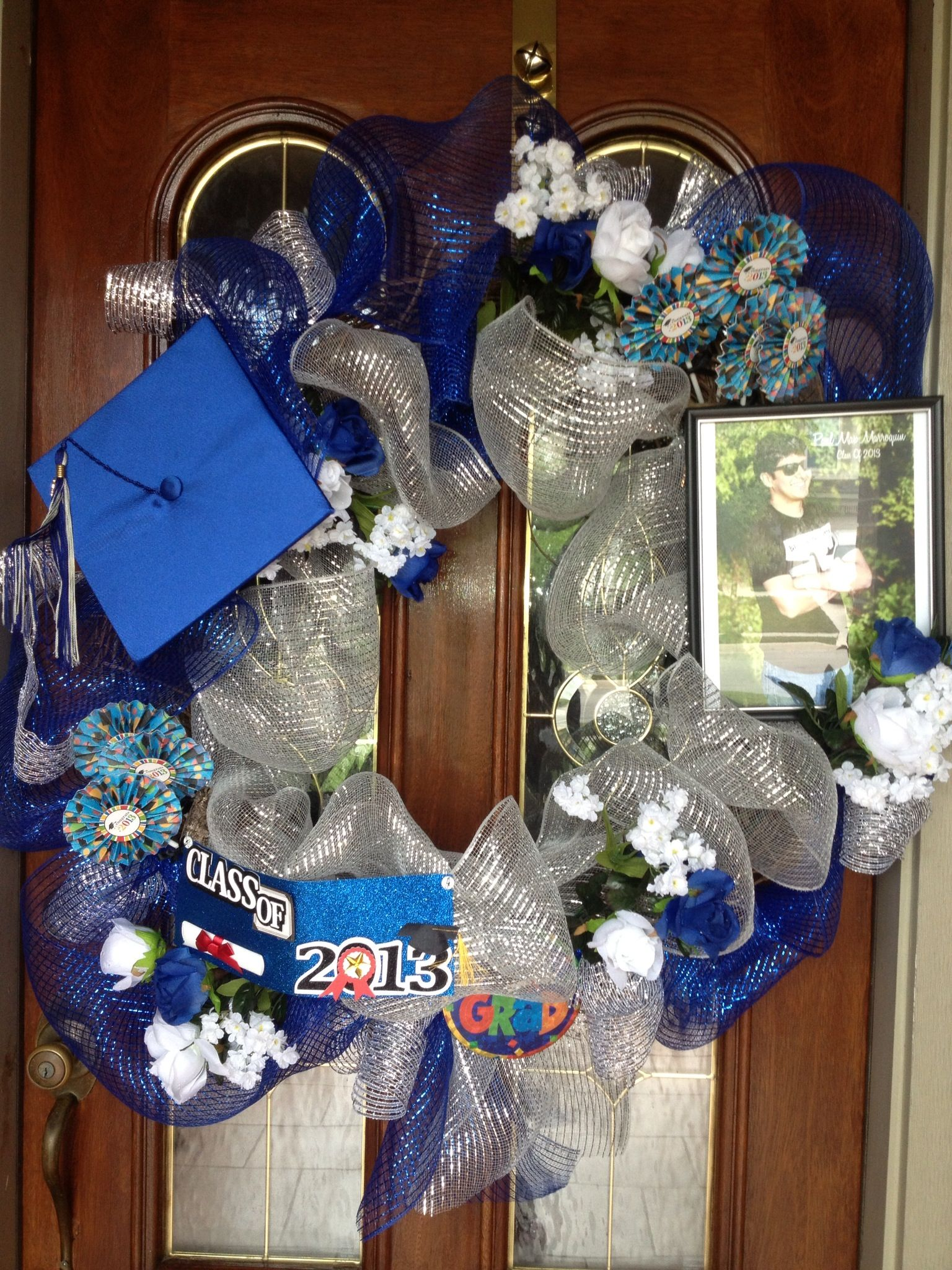Graduation wreath I made for my son's graduation party.