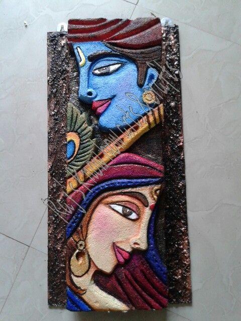 radha krishna mural mural pinterest mural art clay art carft and hobby creativity of the week