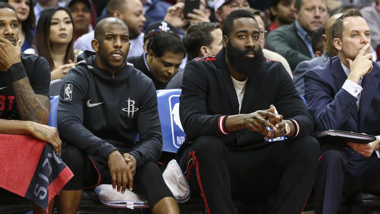 RocketsClippers fight No penalties for Chris Paul, James