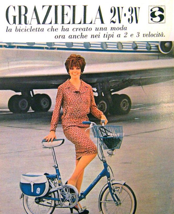 Bicicletta Graziella 1964 Bici Annunci Vintage Pubblicità D