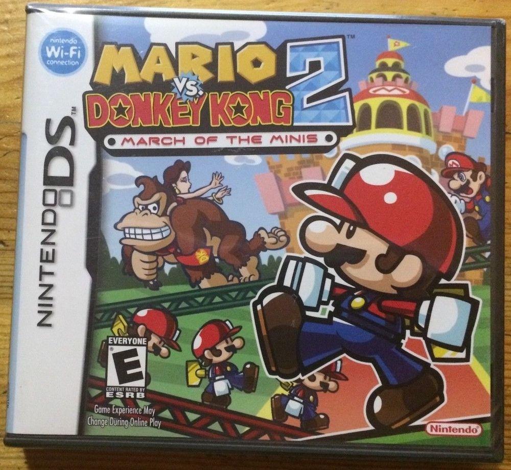 Mario Vs Donkey Kong 2 March Of The Minis Nintendo Ds 2006 Donkey Kong Ds Games Nintendo Ds Mario