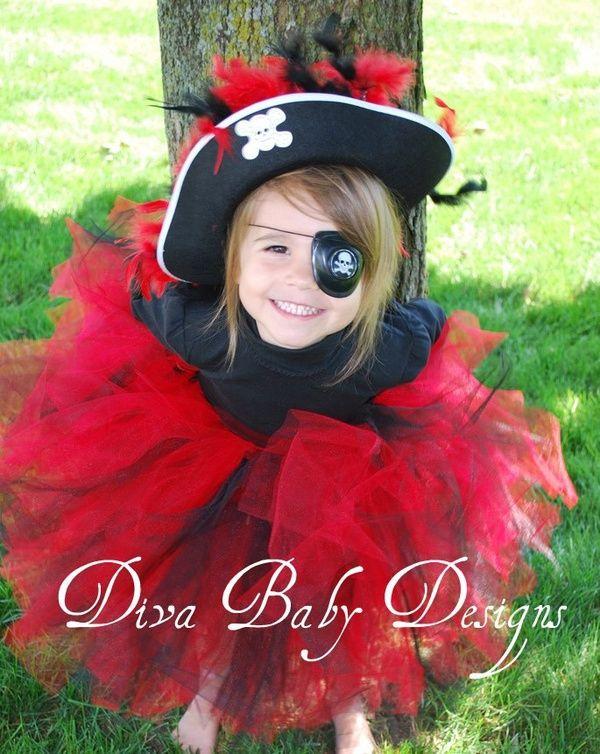 Girl Halloween Costume - Pirate Costumi Di Halloween Da Pirata 22fcafff8325