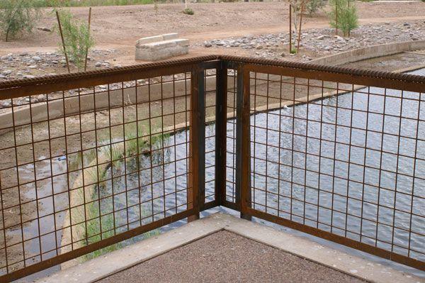 Welded wire mesh railing deck pinterest