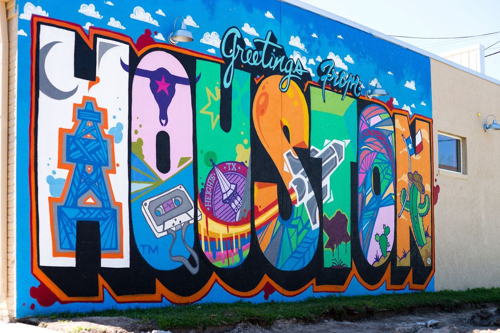Houston Wall Art greetings from houstondaniel anguilu | texas