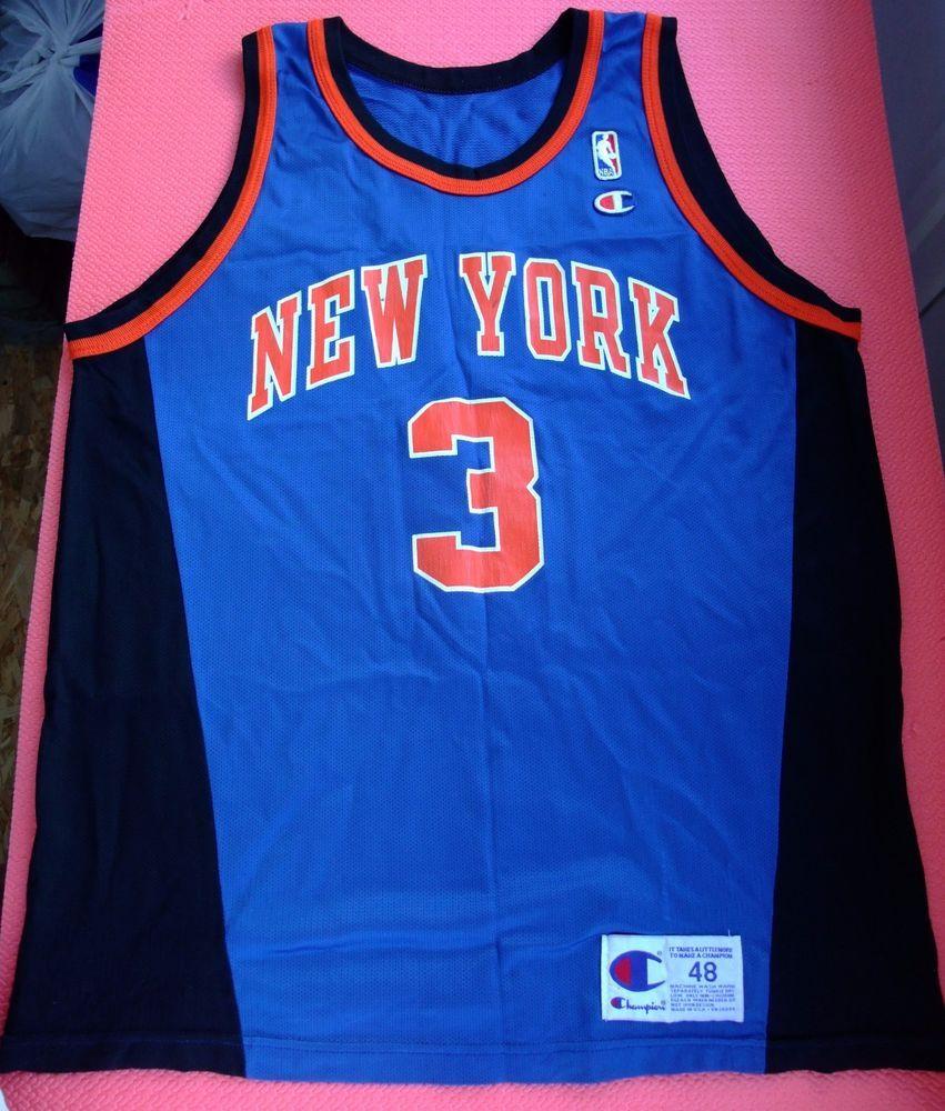 John Starks New York Knicks NBA Champion basketball jersey vintage myx6Y