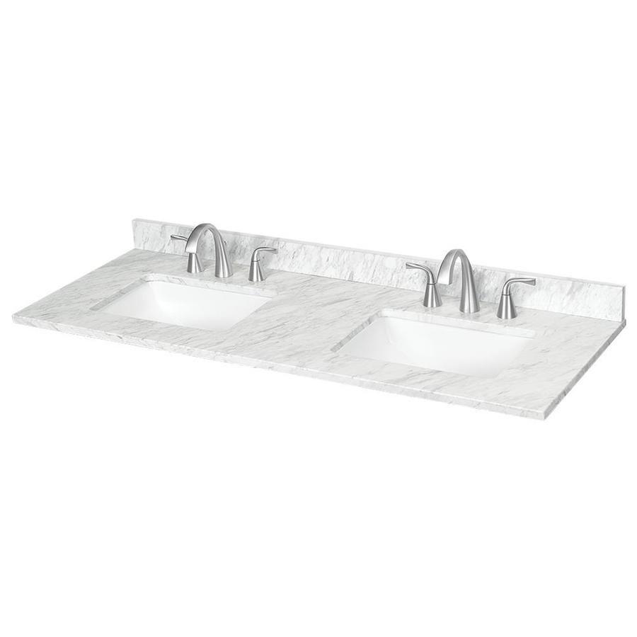 Ariston Natural Marble Undermount Bathroom Vanity Top Common 61