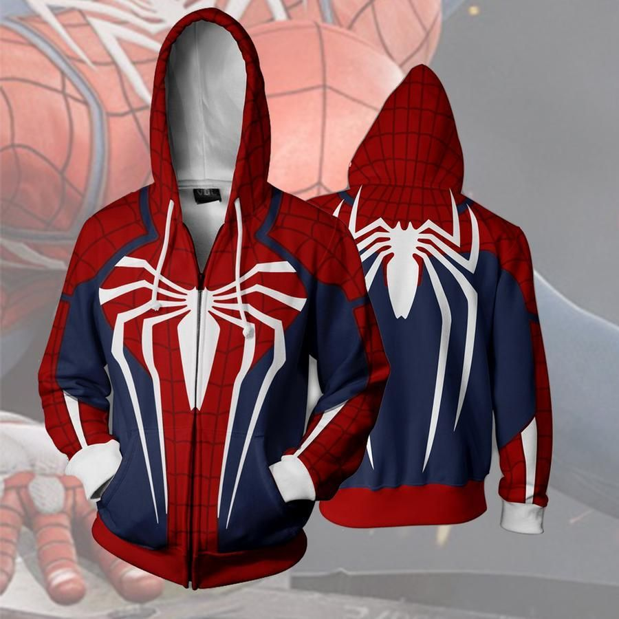 01d7ed2a2 SPIDERMAN PS4 JACKET - ZIP UP HOODIE - SPIDERMAN 3D HOODIE | Hoodies ...
