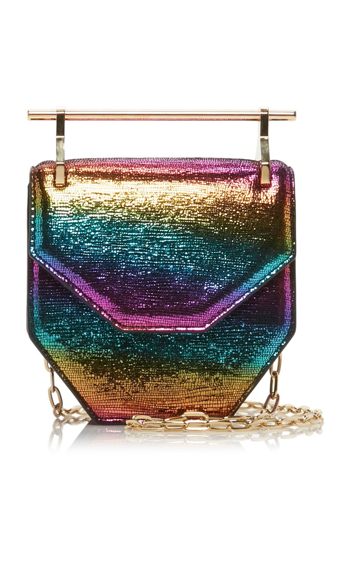 00bad3d556 Mini Amor Fati Metallic Leather Bag by M2Malletier SS19