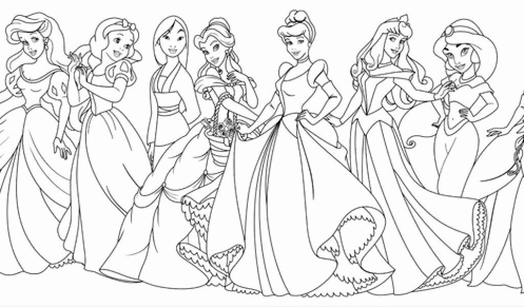 All Disney Princess Coloring Pages Elegant Disney Pretty Princesses Coloring Page Disney Princess Coloring Pages Disney Princess Colors Princess Coloring Pages