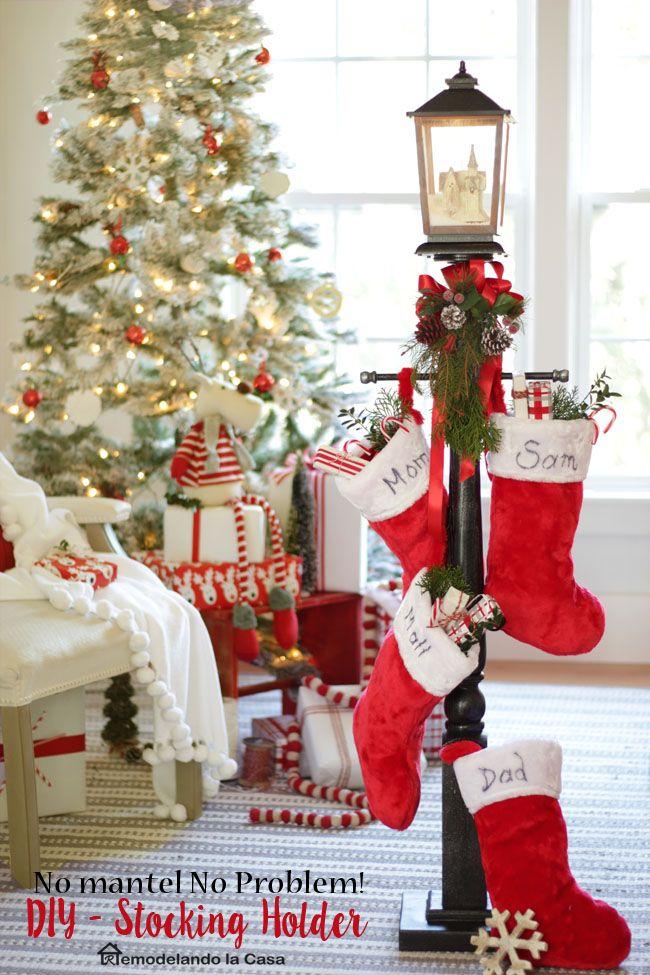 Diy stocking holder the home depot virtual party - Decoracion navidena diy ...